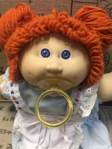 Vintage 85 Cabbage Patch Kids Red Hair Blue Eyes With Maid Dress And Pacifier Cabbage Patch Dolls Cabbage Patch Kids Dolls Cabbage Patch Kids