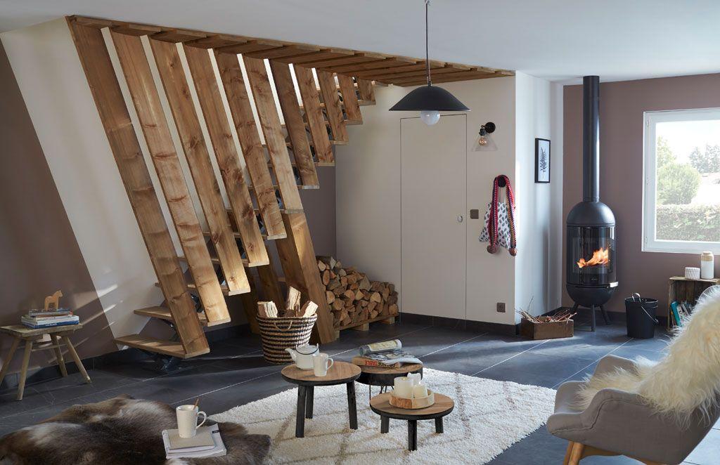 un habillage de cage d 39 escalier escalier interieur pinterest habillage escaliers et. Black Bedroom Furniture Sets. Home Design Ideas