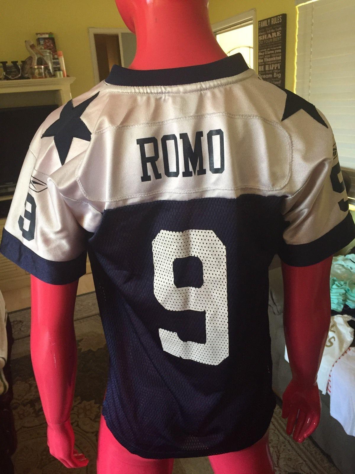 san francisco 26804 075e4 Reebok Throwbacks Dallas Cowboys #9 Tony Romo Youth Jersey ...