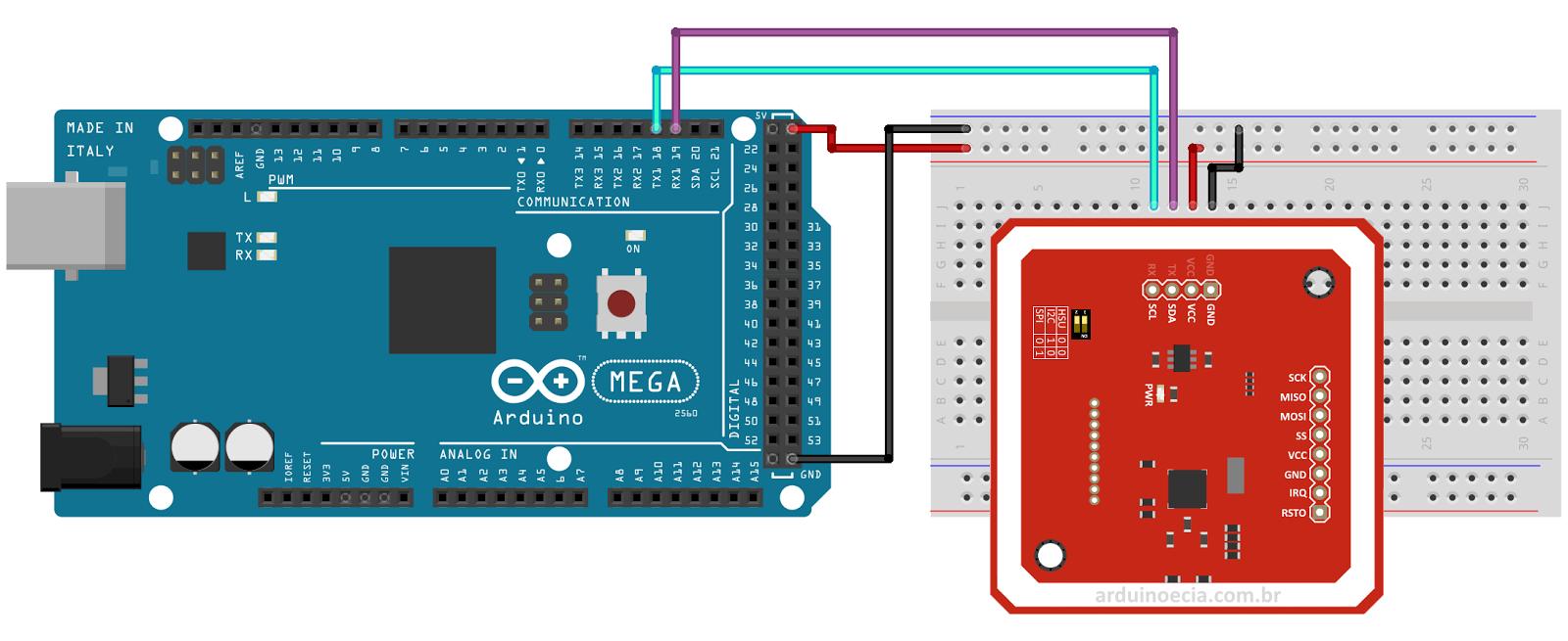 Comunicação sem fio com módulo PN532 NFC RFID   Arduino