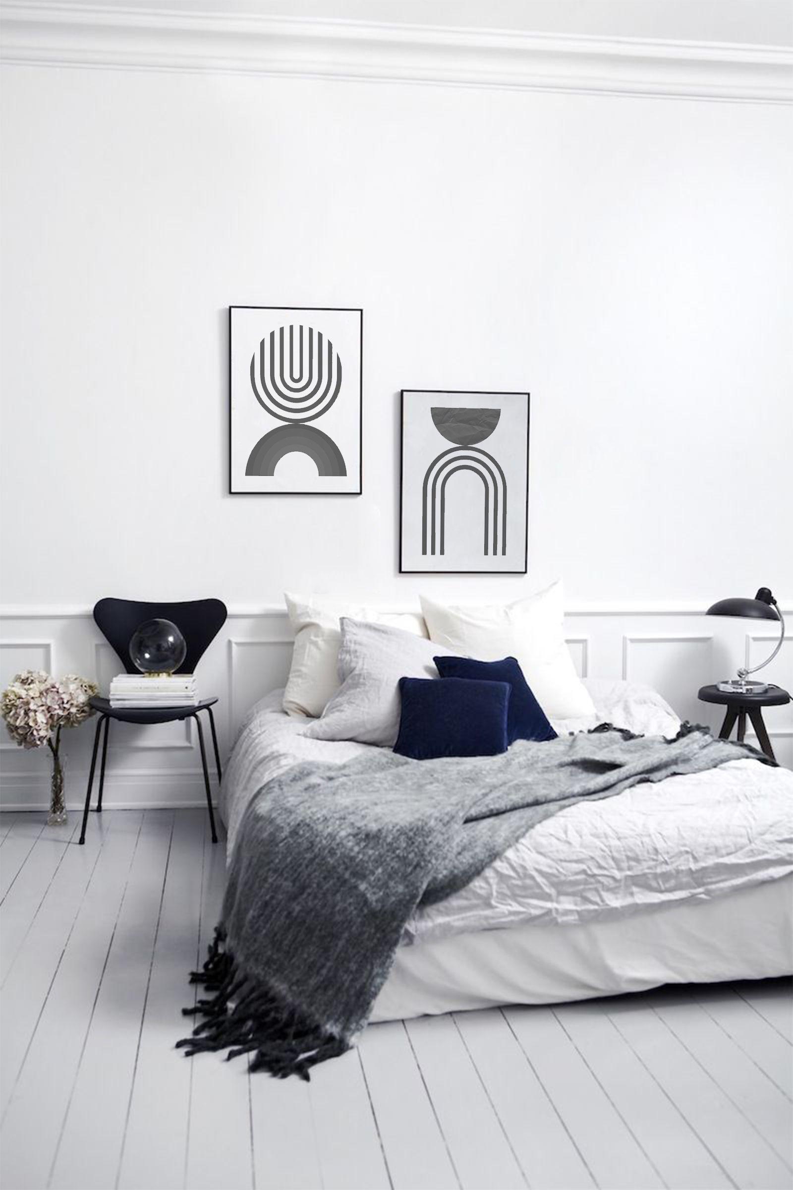 Black White Print Abstract Print Art Minimalist Geometric Etsy In 2020 Bedroom Design Trends Bedroom Interior Minimalist Bedroom Design