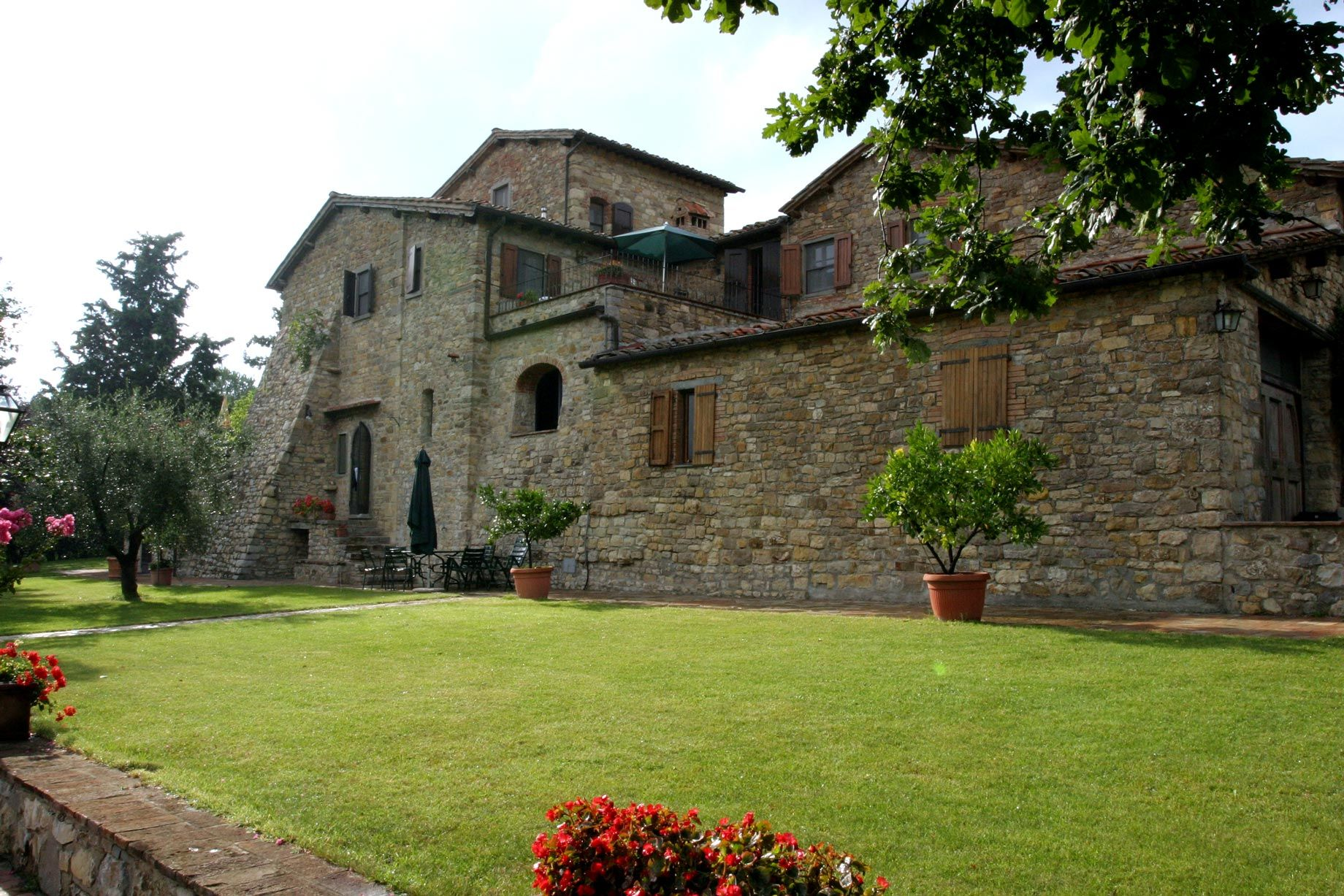 Organic farmhouse in Tuscany   Palagio of Panzano in Chianti They organize guided tours around their wine estate , vineyards, olive groves and wine cellar