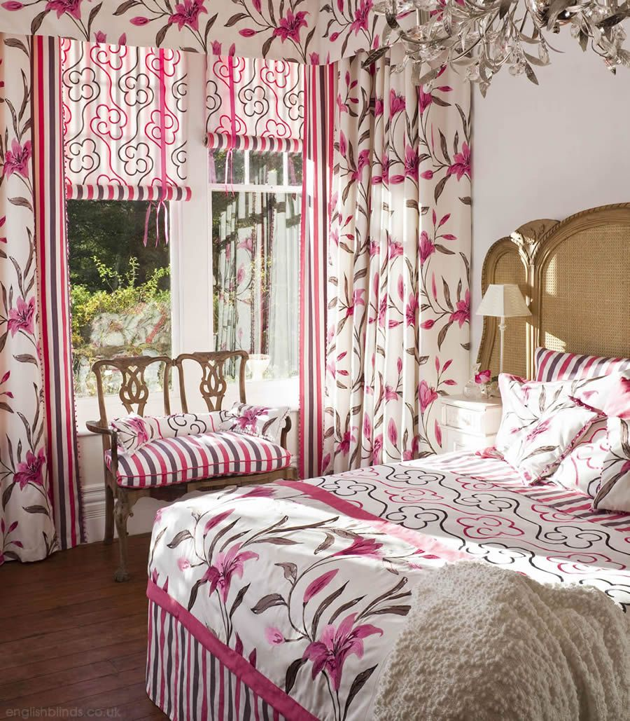 Gorgeous Pink And White Luxury Bedroom Curtains