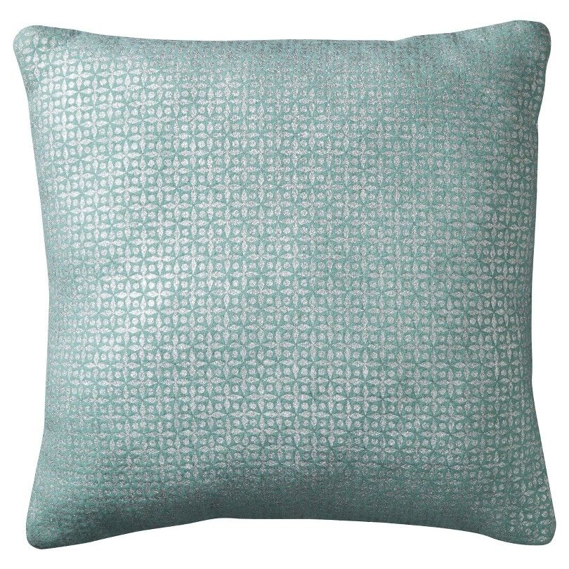 "Threshold™ Foil Print Pillow - 18x18"" - Textile Material: Wool ( 70 %) , Nylon ( 30 %) Fill Material: Polyester ( 100 %)"