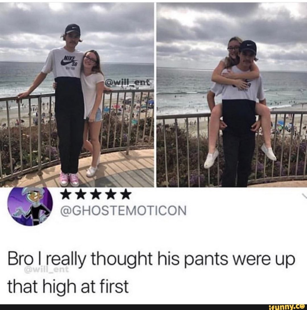 Bro I really thought his pants were up that high at first