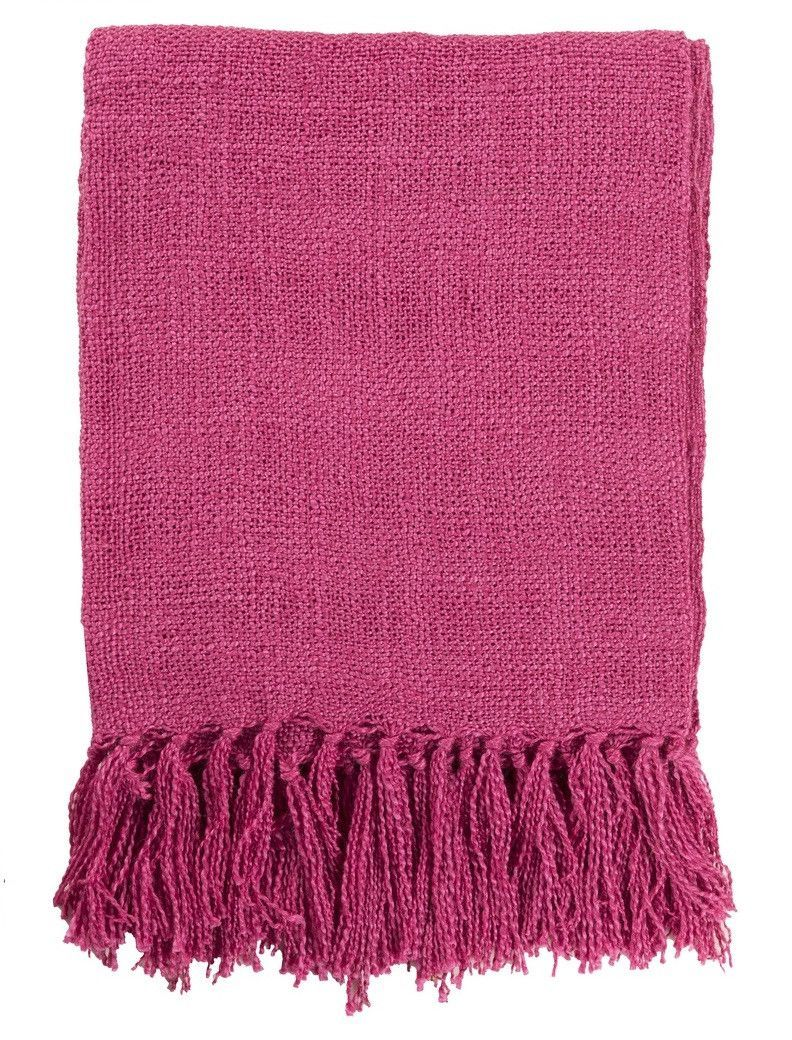 Superieur Our Belize Pink Throw Blanket Is Perfect For Cozy Naps And Stylishly Draped  Across The Sofa. Woven In A Loose Design From Gorgeous Fuchsia Pink Acrylic  Knit ...