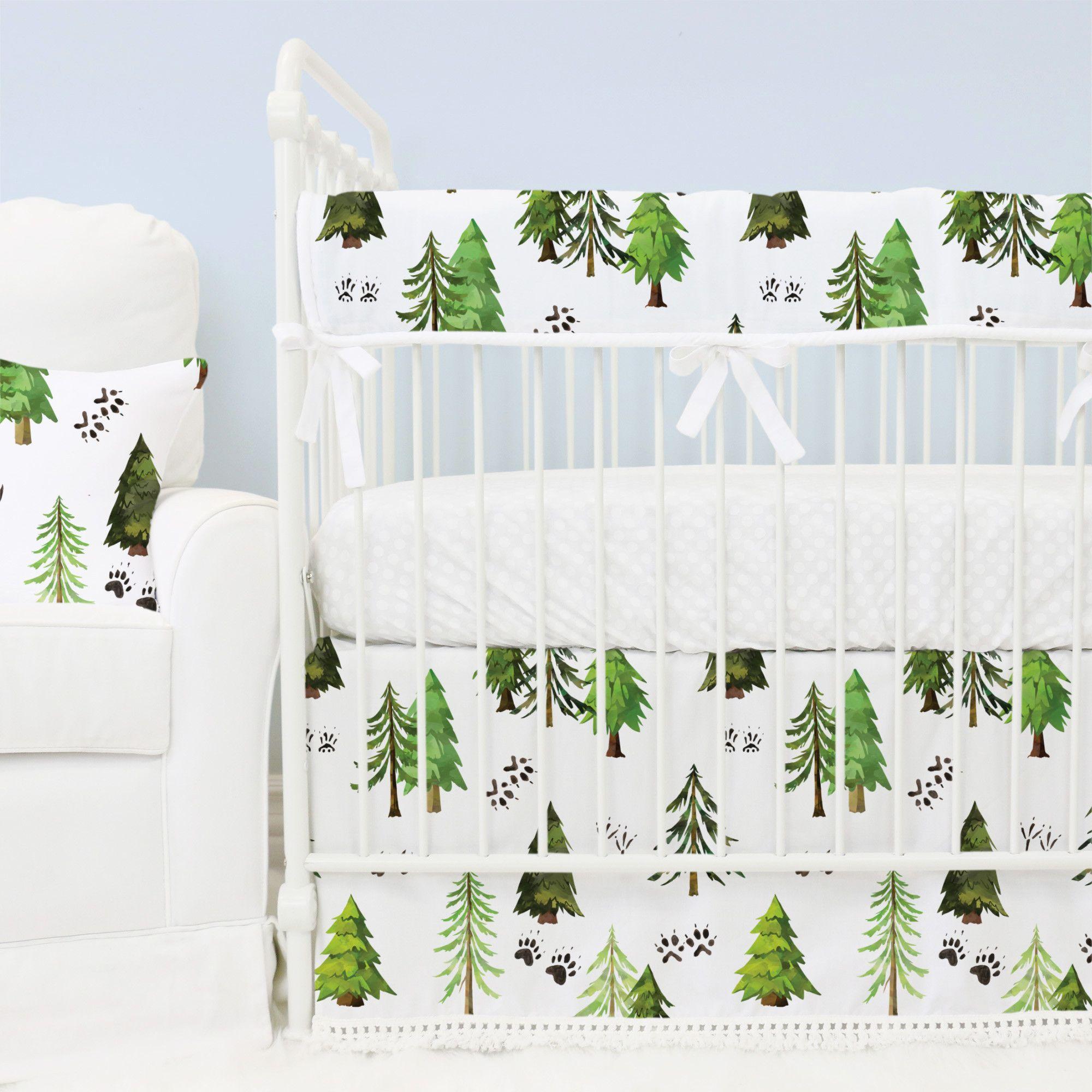 Woodland Rustic Tree Crib Bedding Set