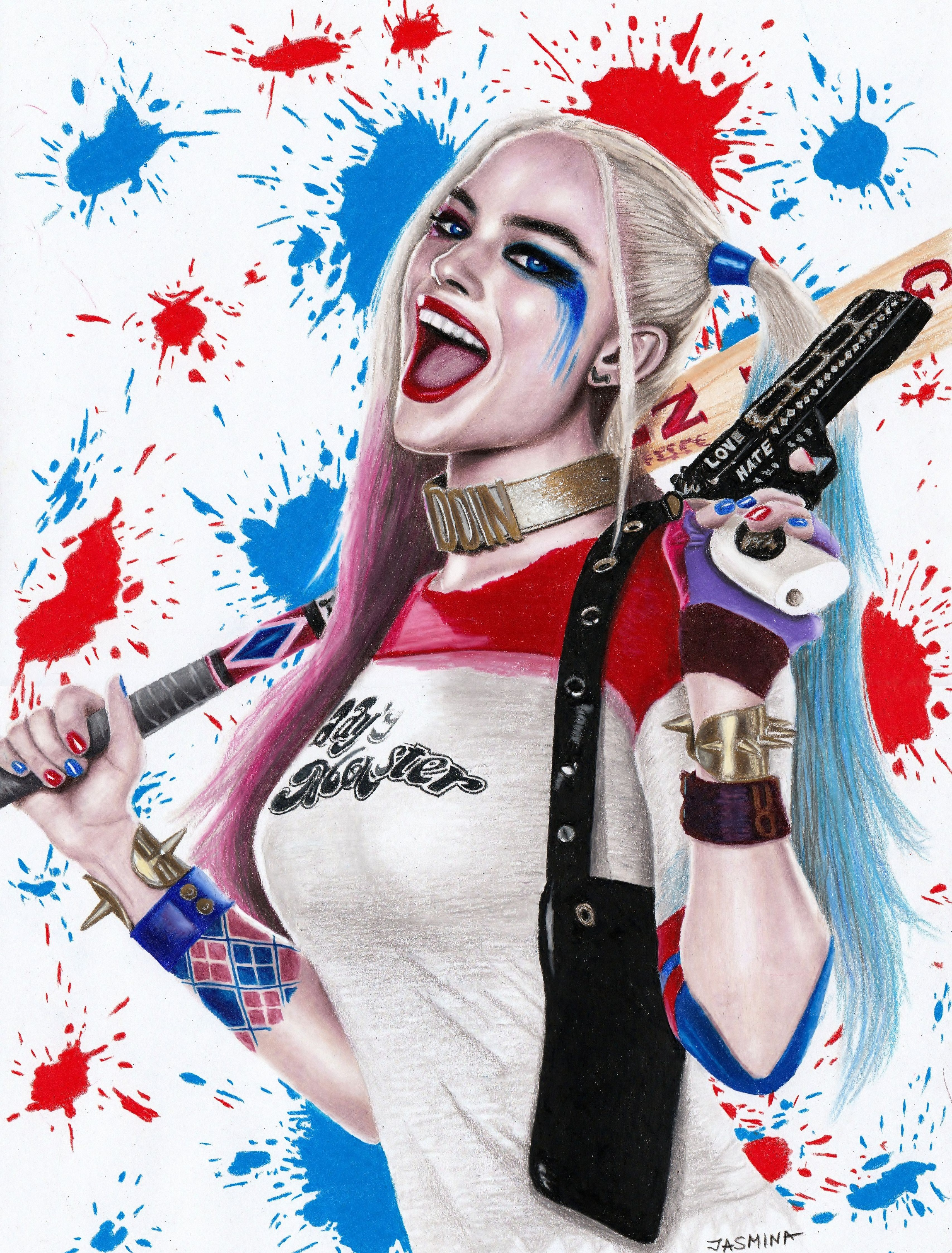 Tools For Drawing Cool Art Harley Quinn Harley Quinn