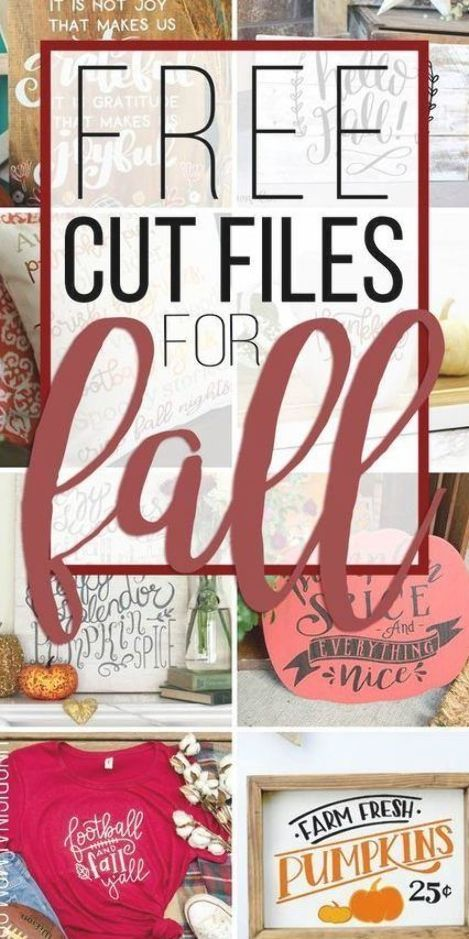 A great list of cute free cut files for fall! Perfect for fall crafting with you…