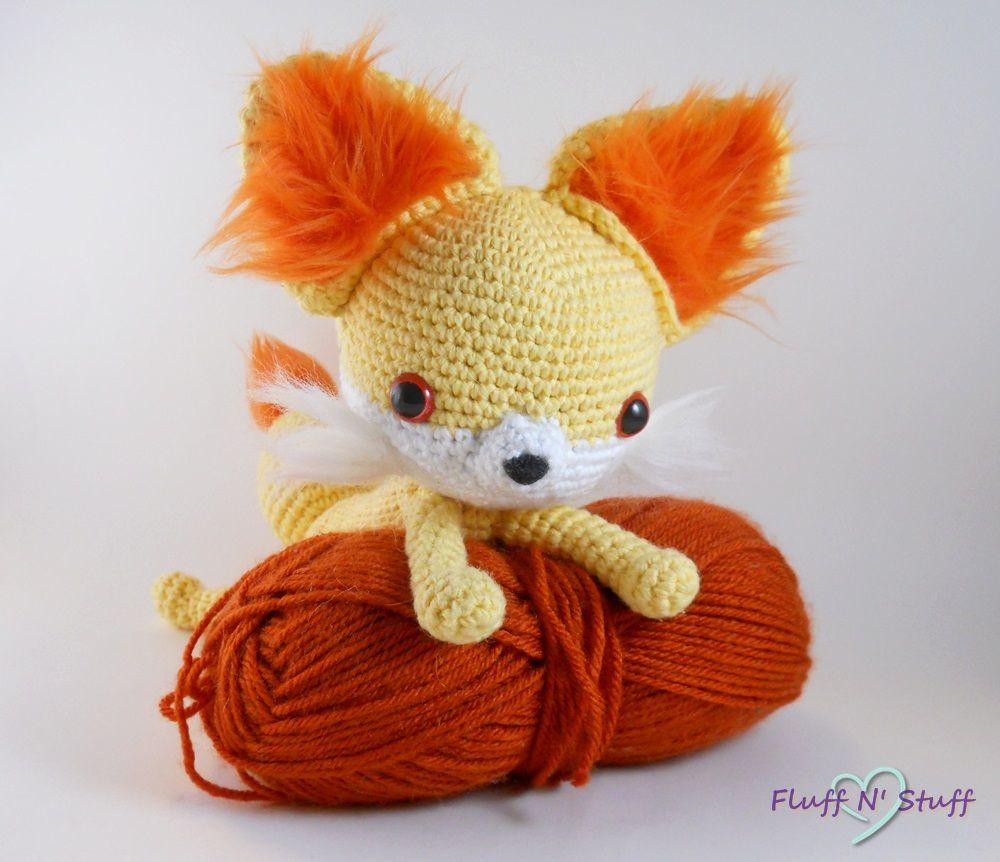 Adorable Fennekin Pokemon amigurumi. Made by Fluff N\' Stuff ...