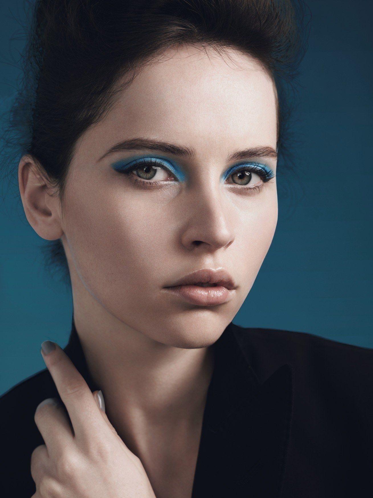 Actress Felicity Jones, the new face of Dolce & Gabbana