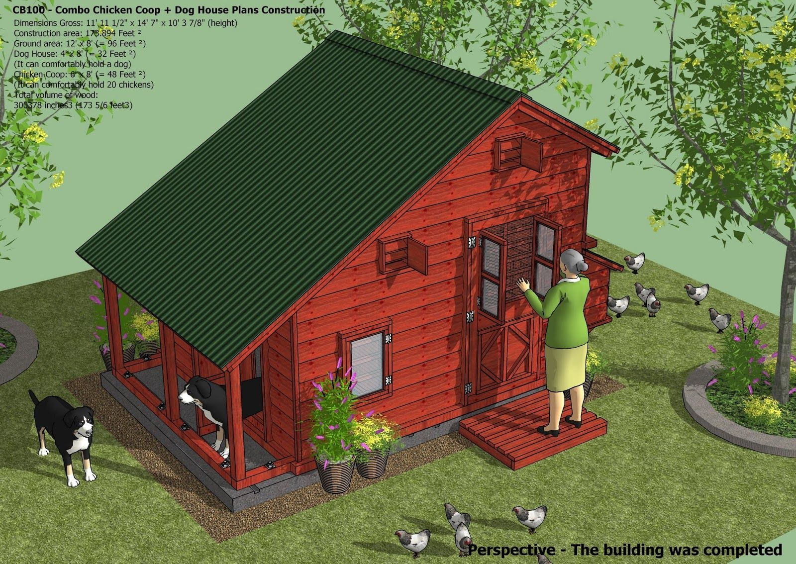 Cb100 Combo Plans Chicken Coop Plans Construction Insulated