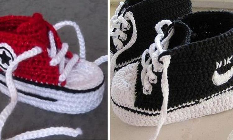 grande remise grandes variétés grand assortiment Mini Converse et pantoufles Nike pour bébé! Des patrons et ...