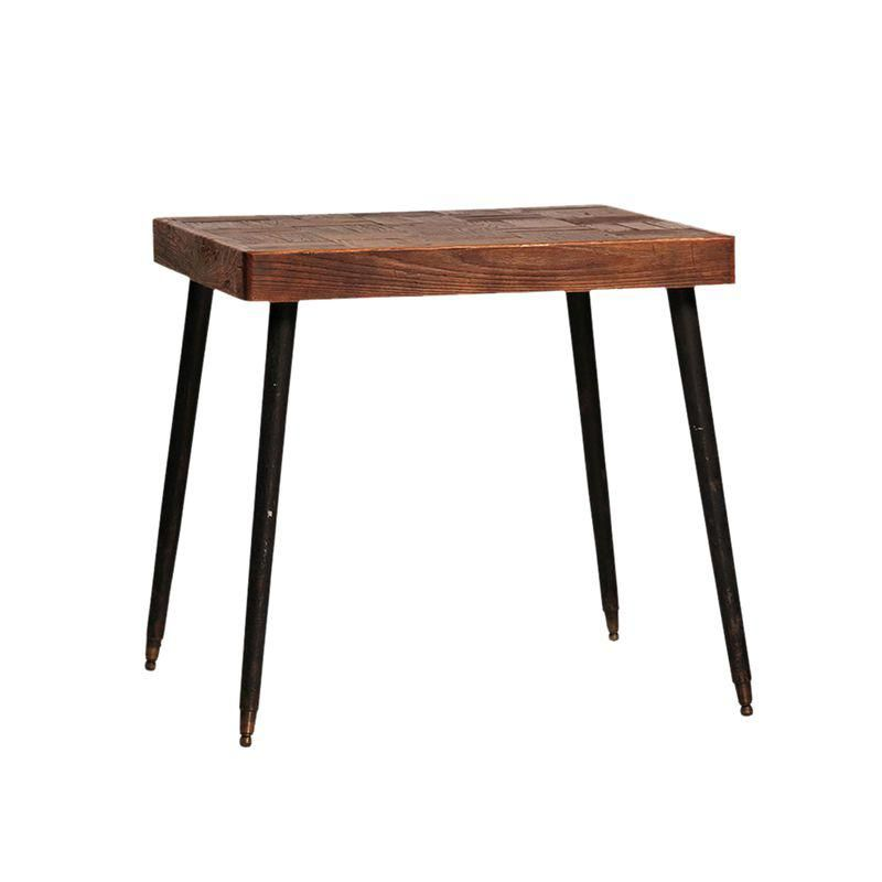 Reclaimed Wood Bistro Table Table Wood Parquet Small Dining