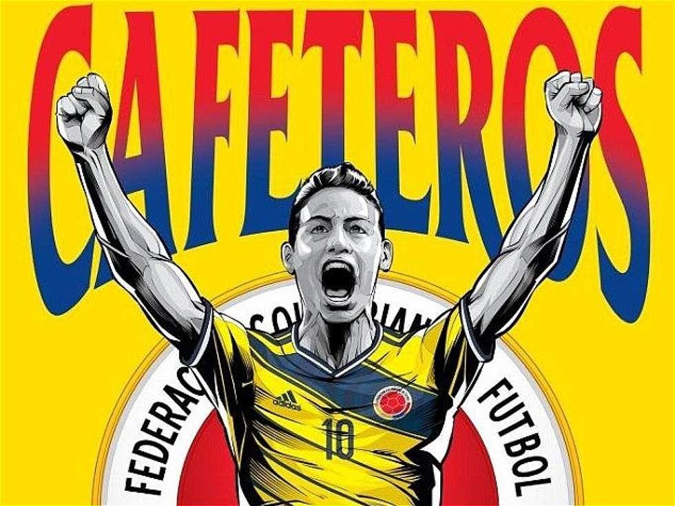 James Rodríguez, la imagen de Colombia en los afiches del ...