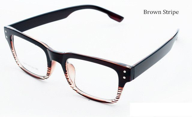 9427488b24 Korean Glasses Frames TR 90 Large Box Black Stripe Prescription Glasses  Frames Eye Glasses Frames for Women and Men