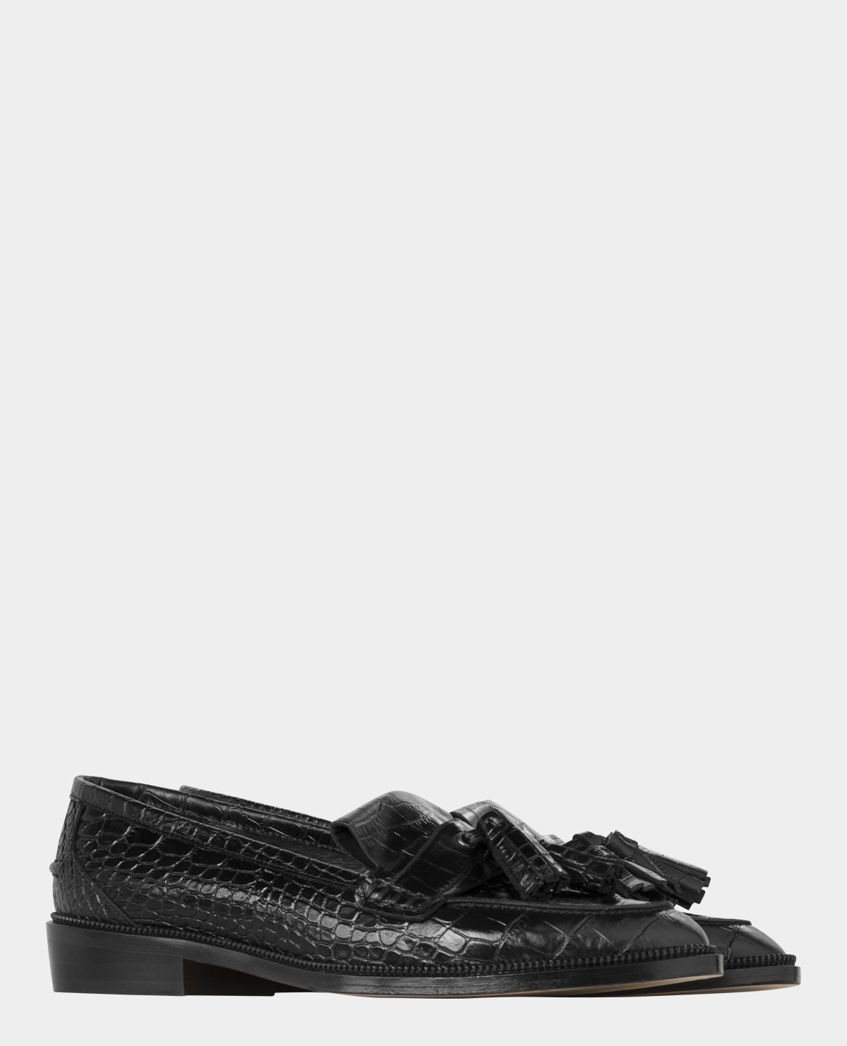 abba186200 Faux croc embossed leather moccasins from The Kooples | I want ...
