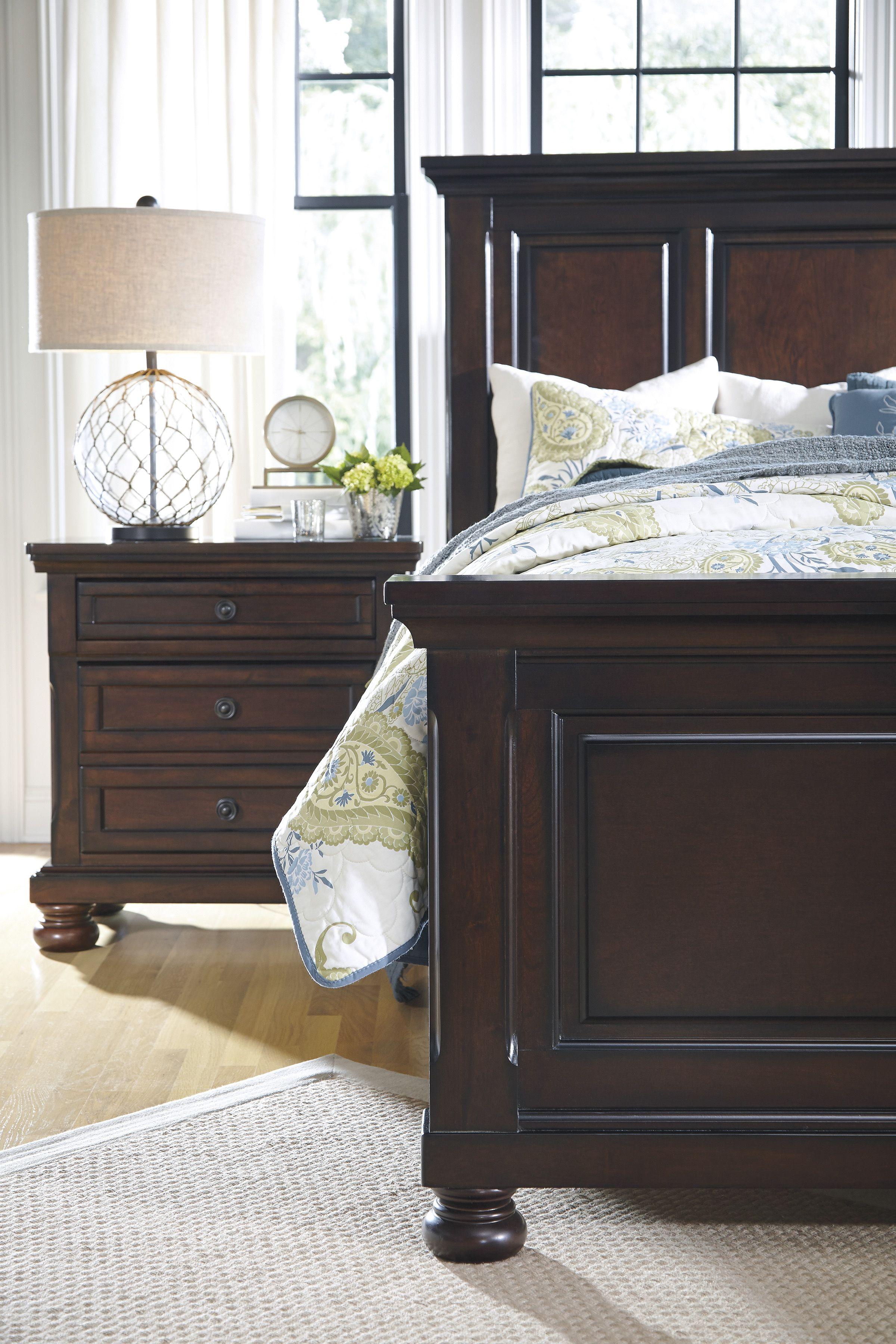 Best Ashley Porter King Panel Bed Furniture Homemakers 640 x 480