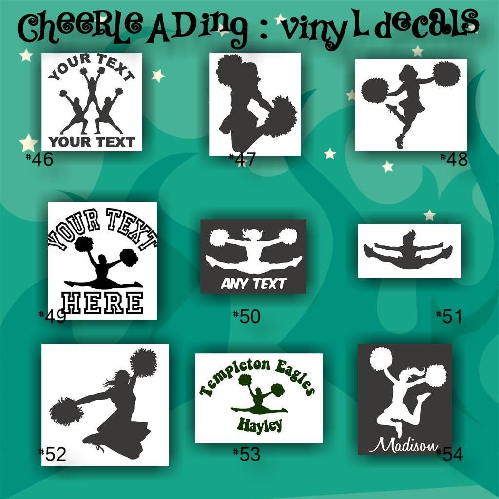 CHEERLEADING Vinyl Decals  Car Stickers Cheerleader - Vinyl stickers on cars