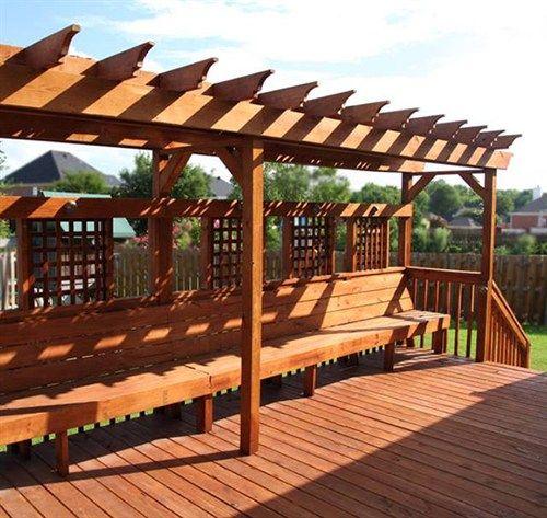 09-pergola -benches Jolene Pinterest Pergolas, Bench and