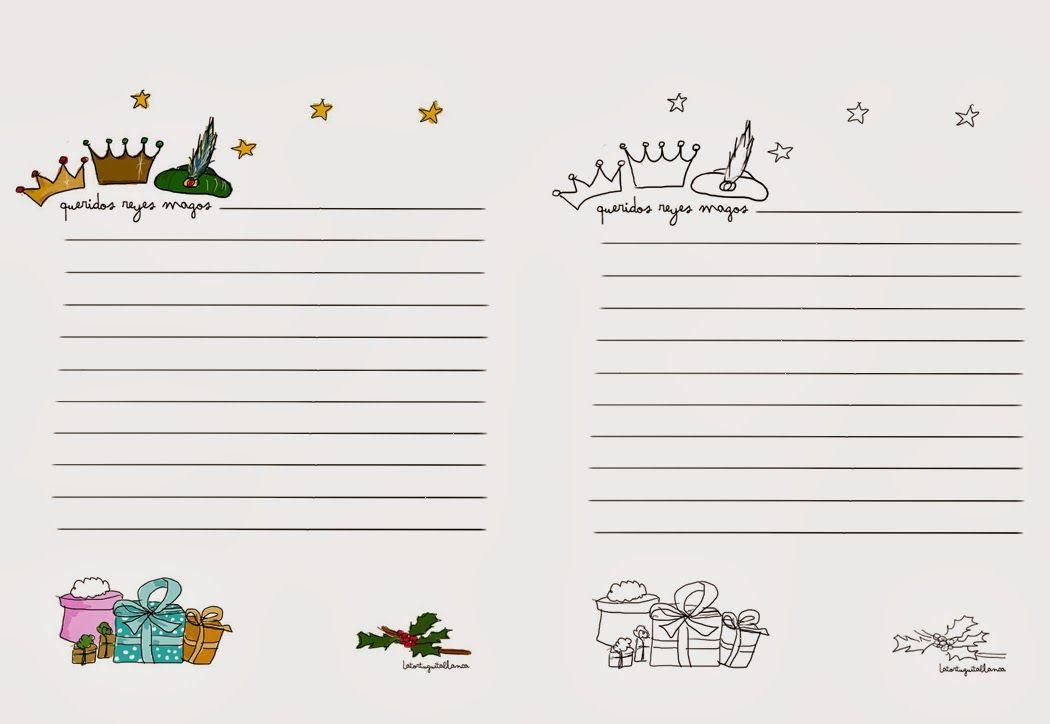 5 Plantillas para escribir la carta a Papá Noel y a los Reyes Magos ...