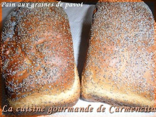 Pain aux graines de pavot  http://www.carmen-cuisine.com/article-pain-aux-graines-de-pavot-71576520.html