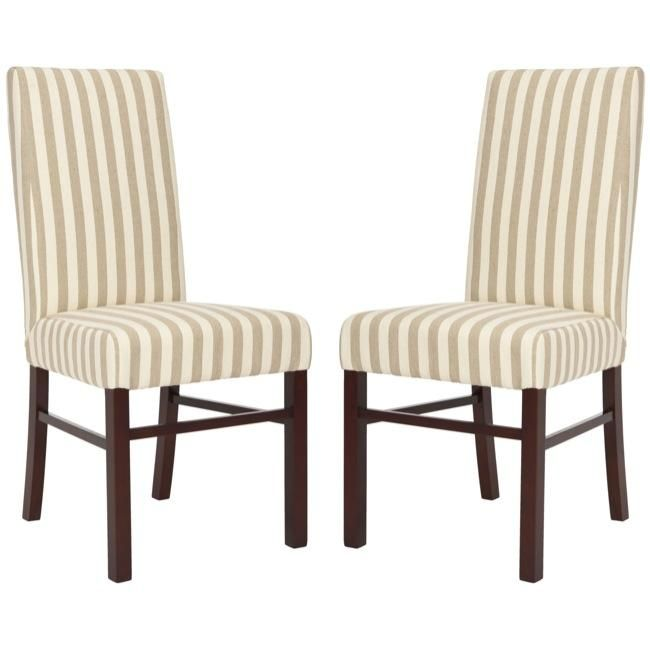 These Elegant Chairs Are Designed With A High Seat Back Feature Sturdy Striped ChairStriped LinenDining Room