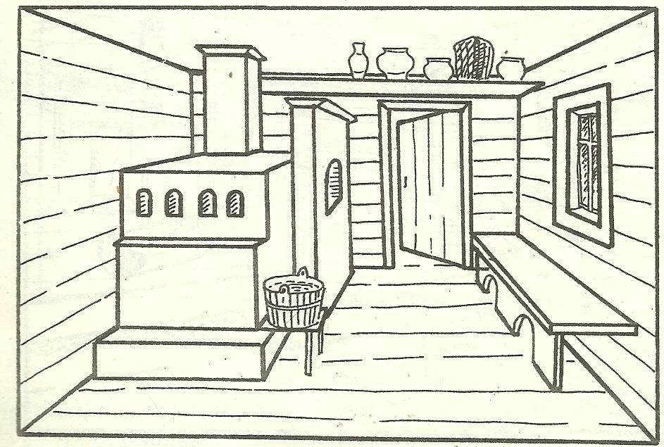 древнерусский дом внутри рисунок самых оригинальных
