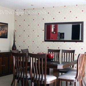 Plantillas decorativas para pintar y decorar paredes como papel tapiz decoration pinterest - Plantillas decorativas para pintar paredes ...