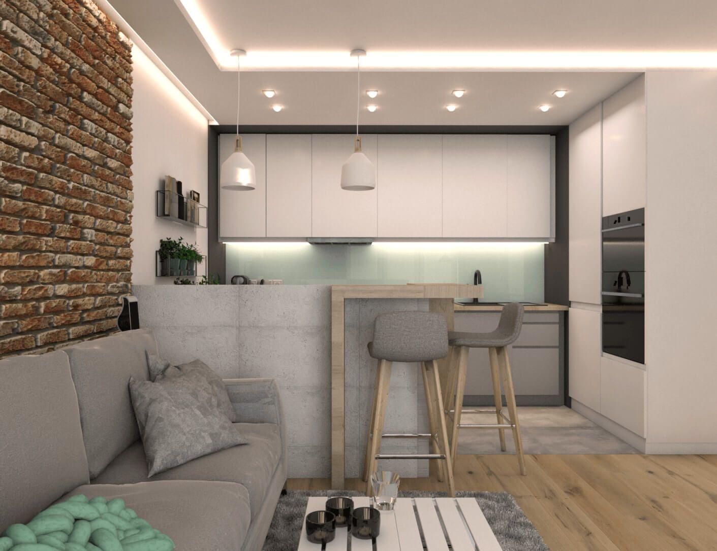 Mieszkanie W Bloku Z Lat 60 Oroconcept Pracowania Projektowania Wnetrz Small Apartment Interior Kitchen Room Design Condo Interior