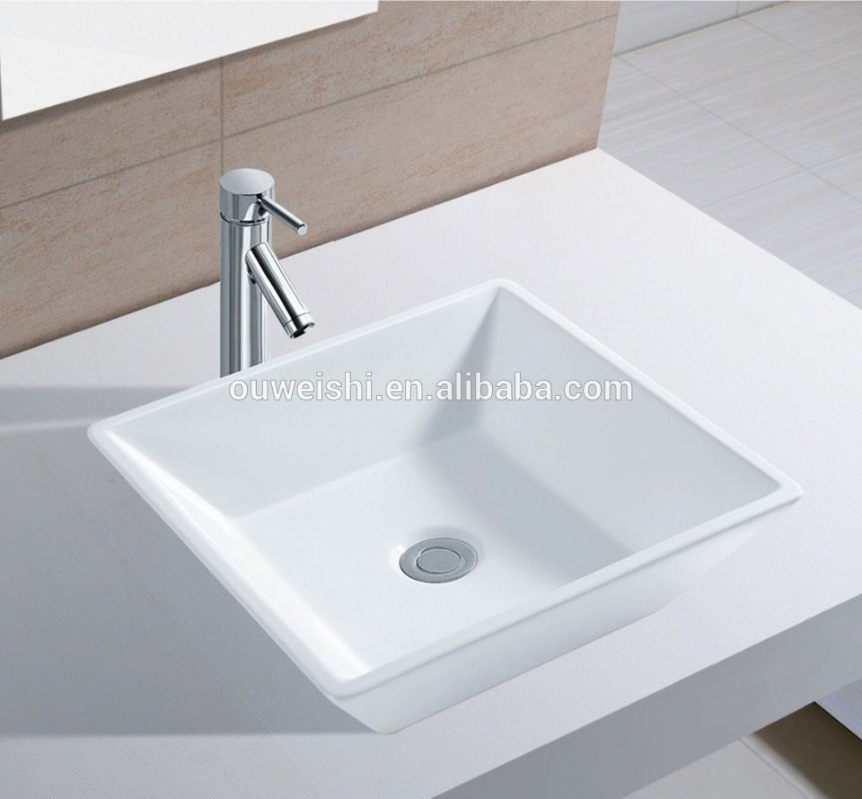 Bathroom Sinks Top Mount top art furniture without tap hole vanity top mounted wash basin