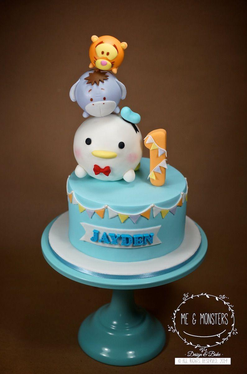 Tsum Tsum theme fondant cake Cakes for Kids Party Pinterest