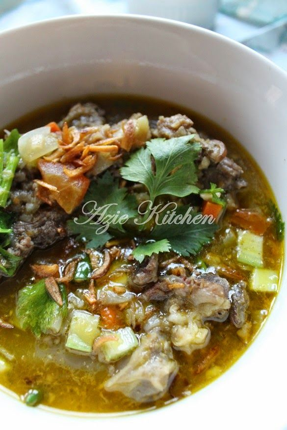 Azie Kitchen Sup Tulang Yang Sangat Sedap Resep Daging Resep Masakan Masakan