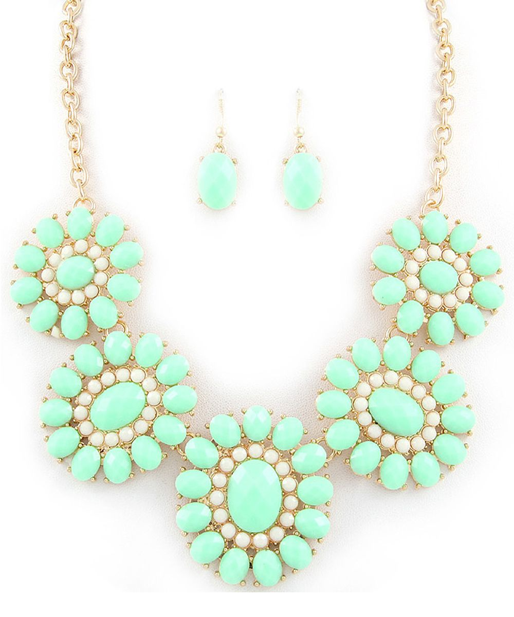 Esther's Mint Blossom Necklace and Earring set
