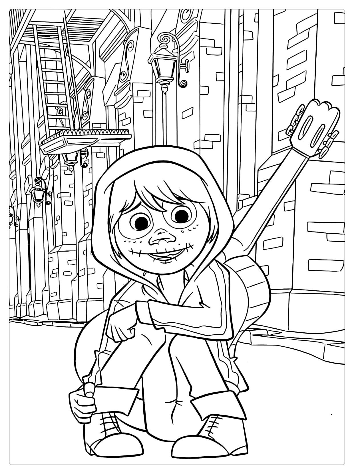 Coco Coloring Pages Cartoon Coloring Pages Disney Coloring