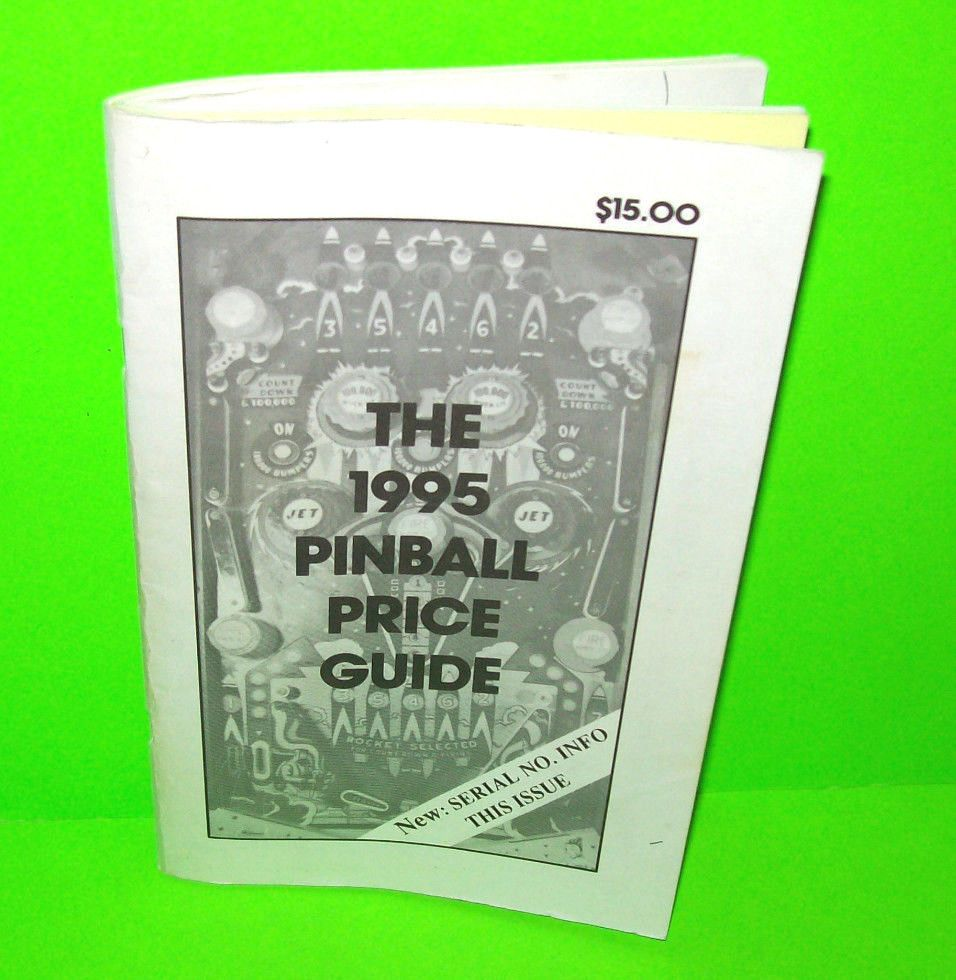 1995 Pinball Price Guide Vintage Used Flipper Pinball