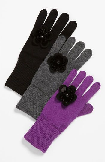 kate spade new york 'magnolia' knit tech glove - Must have!!!
