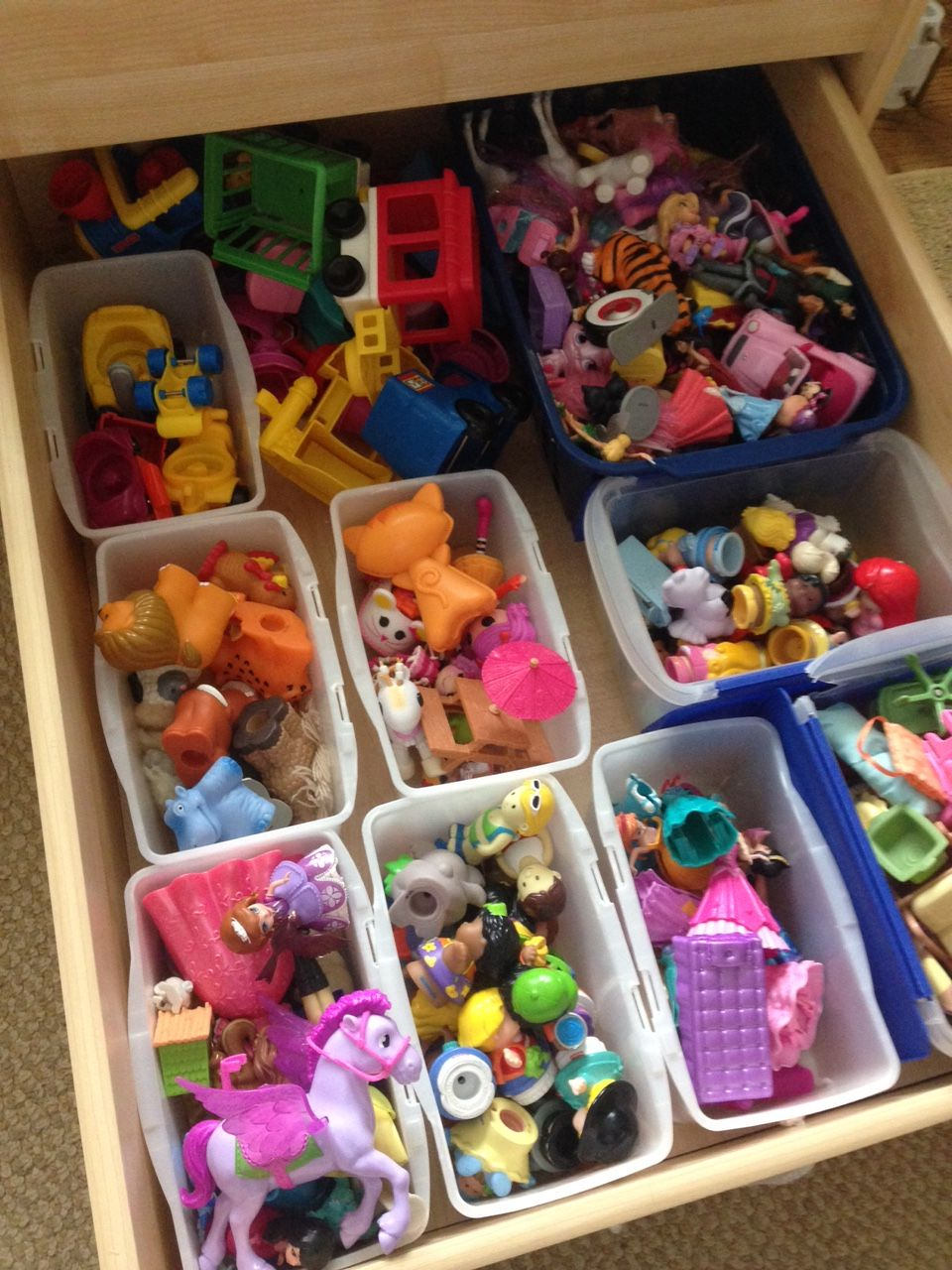 Organize toys. Organize train table. Great blog!