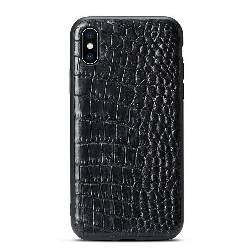 Crocodile iphone xs max xs x case belly skin accessoires