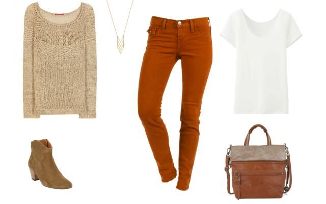The Colored Jeans You'll Crave This Fall: Colored Denim - Rust-Red Jeans