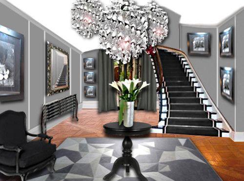 un hall d 39 entr e chic et spacieux floriane lemari decoration by fl pinterest hall and. Black Bedroom Furniture Sets. Home Design Ideas