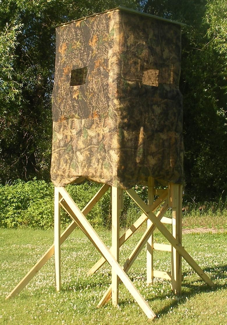 Homemade box deer hunting blind building plans i 39 ll make for Summer house blinds
