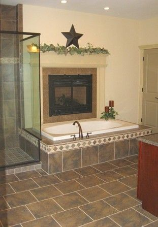 MASTER BATH WITH FIREPLACE ABOVE JACUZZI TUB - Must have ...
