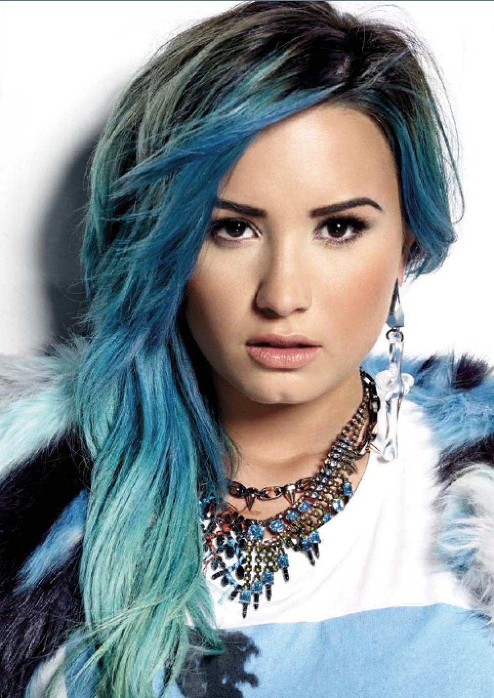 Demi Lovato Blue Hair Ombre Aspirational Fashion Pinterest