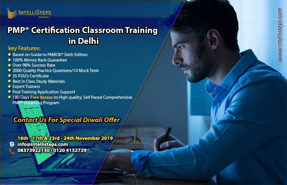 Intellisteps On Linkedin Pmp Classroom Training Based On Pmbok 6th Edition Contact Us For Special Diwali Offer 16th 17th 23rd 24th November 2019 At N Classroom Training Training Base Classroom
