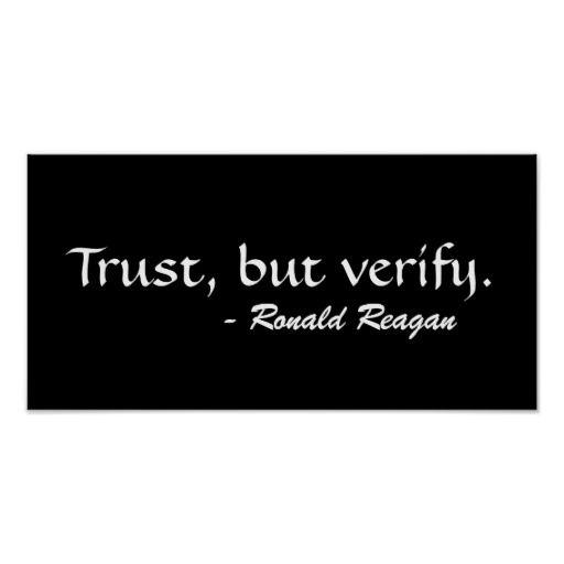 Trust But Verify Reagan By Srf Poster Zazzle Com Q