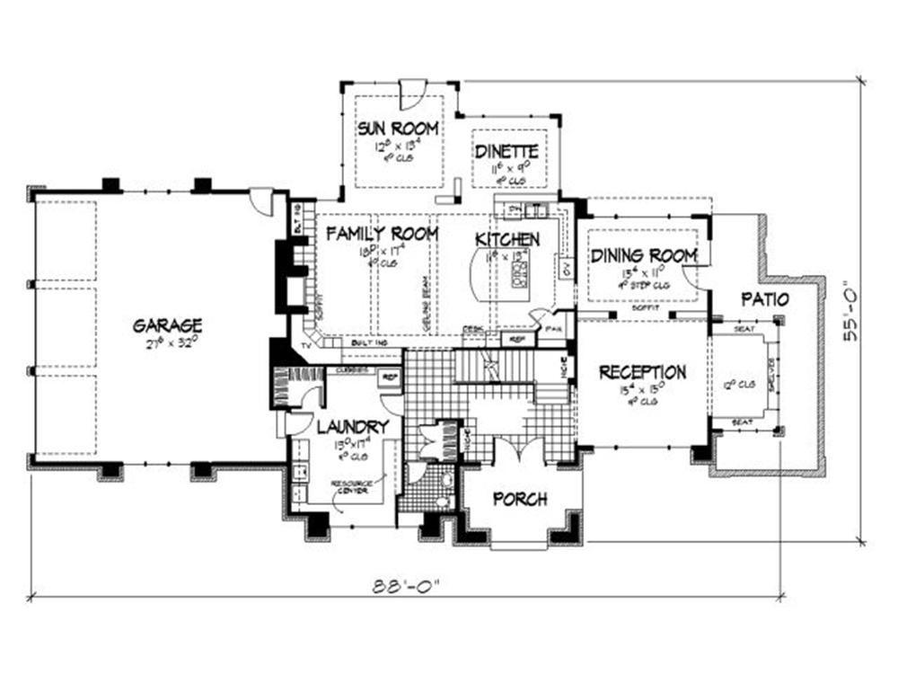Plano principal casa moderna 5 planos de casas for Arquitectura de casas modernas de una planta