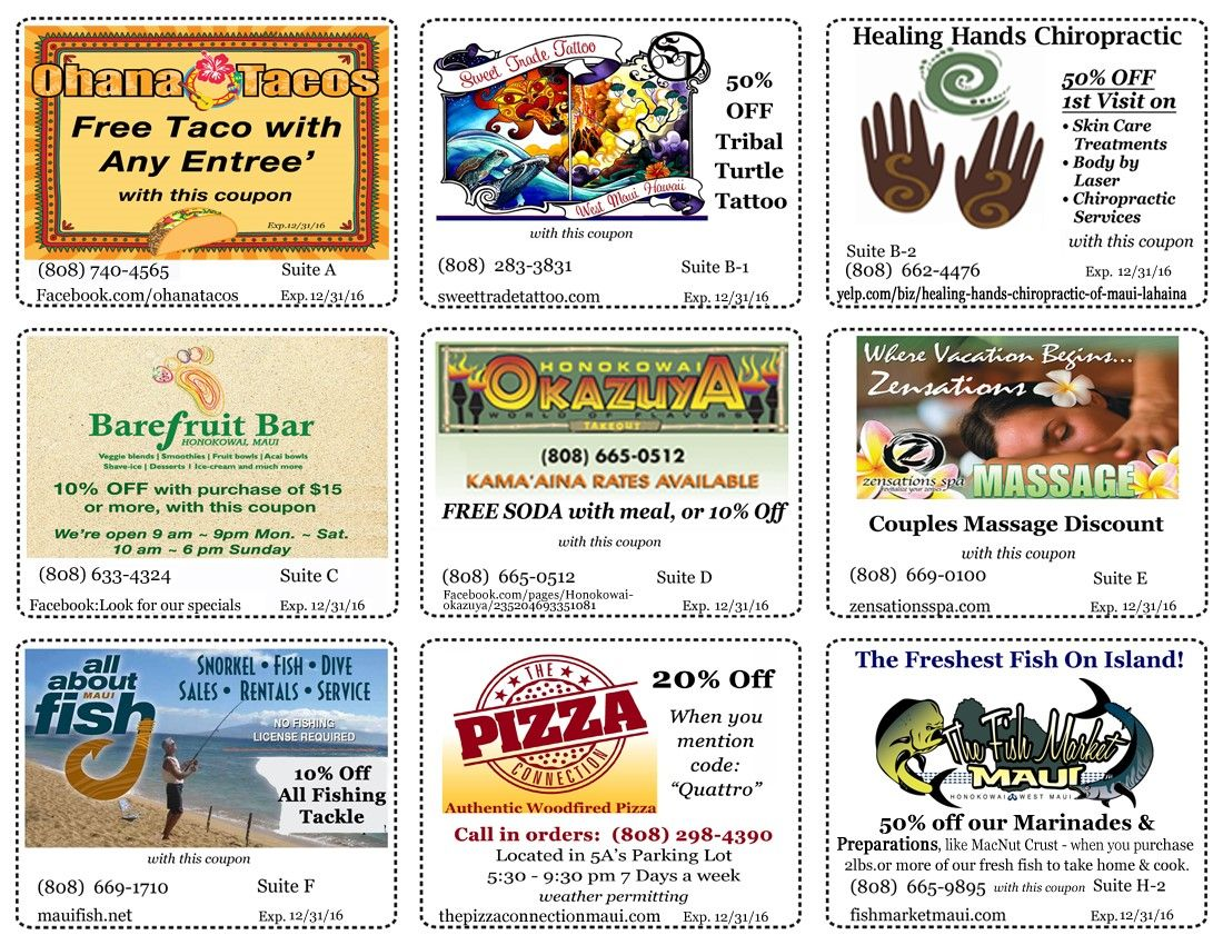 Check Out These Retail Coupons Located Near 5a Rent A Space Lahaina Shoplocal Coupons Discount Hawaiian Travel Lahaina West Maui