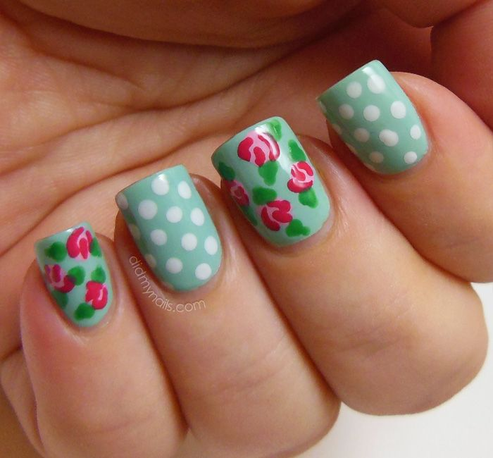 Vintage Roses Floral Nail Art My Own Email