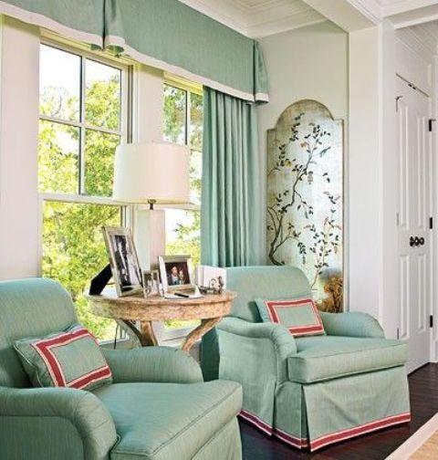 36+ Cortinas para sala color verde inspirations